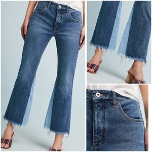 Anthropologie Pilcro Raw Hem High Rise Flare Jeans